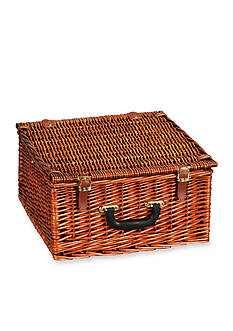 Household Essentials Willow Picnic Basket/Lined Service for Two