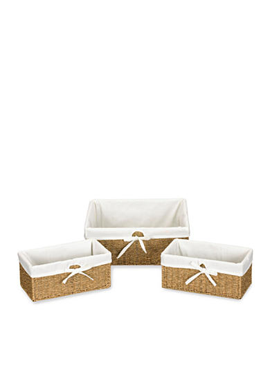 Household Essentials® Seagrass Decorative Wicker Baskets, Set of 3 - Online Only