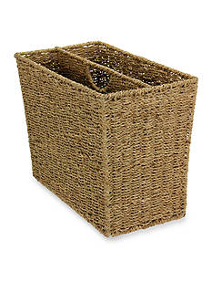 Household Essentials® Seagrass Wicker Magazine Rack - Online Only