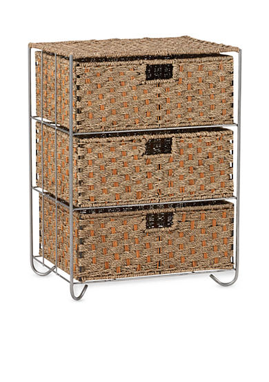 Household Essentials® Seagrass/Rattan 3-Drawer Chest - Online Only
