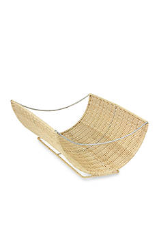 Household Essentials Scoop Rattan Wicker Magazine Rack - Online Only