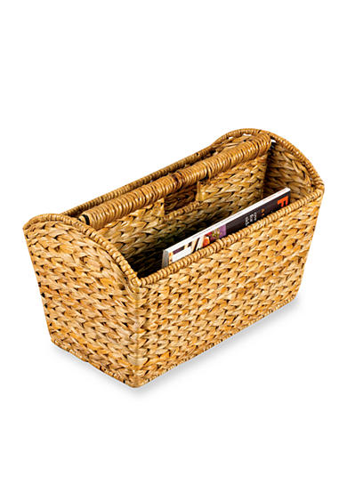 Household Essentials® Banana Leaf Wicker Magazine Rack- Online Only