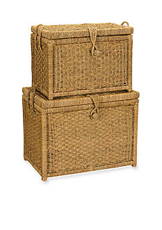 Household Essentials® Seagrass Chests with Seagrass Woven Button (Set of 2) - Online Only