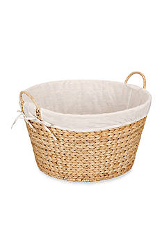 Household Essentials Banana Leaf Wicker Laundry Basket Round - Online Only