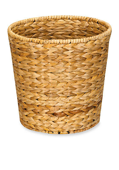 Household Essentials® Banana Leaf Wicker Trash Can, Natural - Online Only
