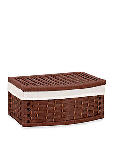 Household Essentials® Curved Paper Rope Basket with Lid and Liner - Online Only