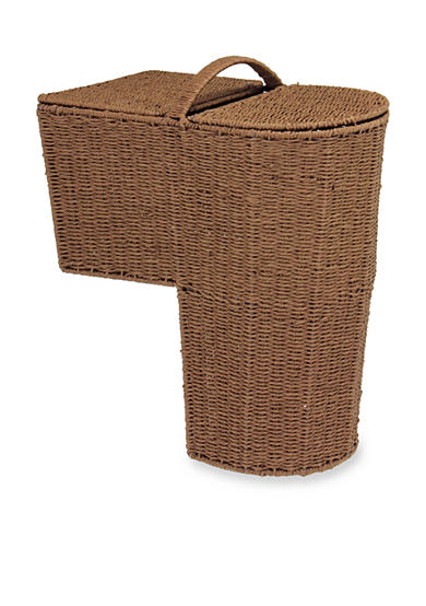 Household Essentials® Rounded Stairstep Basket with Lid - Online Only