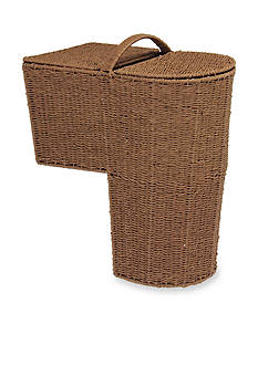 Household Essentials Rounded Stairstep Basket with Lid - Online Only