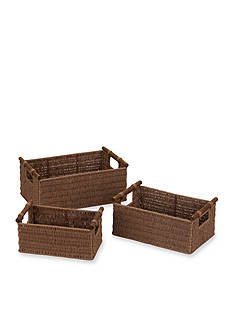 Household Essentials® Paper Rope Baskets with Wood Handles (Set of 3) - Online Only