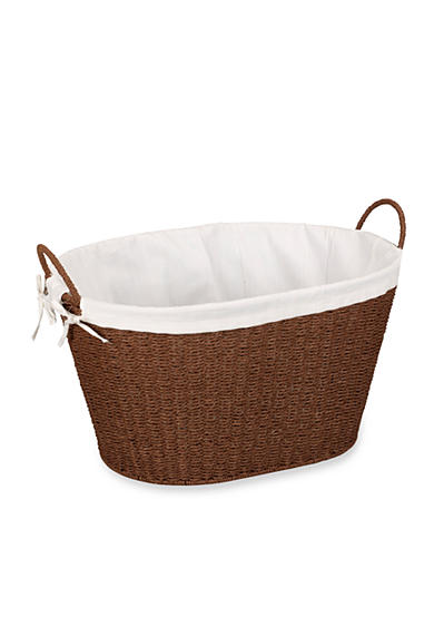 Household Essentials® Round Paper Rope Wicker Laundry Basket - Online Only