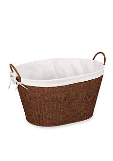 Household Essentials Round Paper Rope Wicker Laundry Basket - Online Only