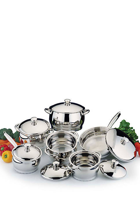 Biltmore 174 Belly Shaped Stainless 13 Piece Cookware Set Belk