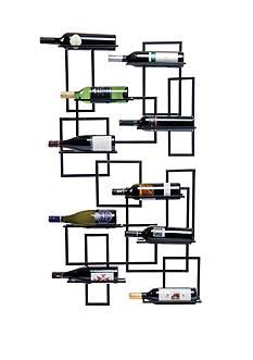 Oenophilia Mid Century Wall Wine Rack