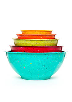 Cooks Tools™ 5-Piece Speckled Mixing Bowls