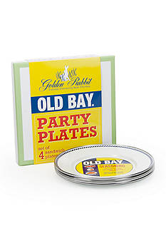 Golden Rabbit 4-Piece Old Bay Plate Gift Set