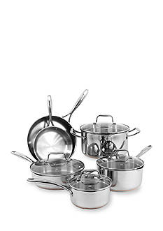 Oneida 10-Piece Stainless Steel Copper Base Cookware Set