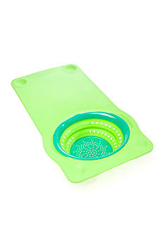 Squish™ Over the Sink Collapsible Colander with Non-Slip Cutting Board