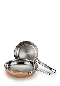 Lagostina Martellata Hammered Copper 8-in. and 10-in. Skillet Set
