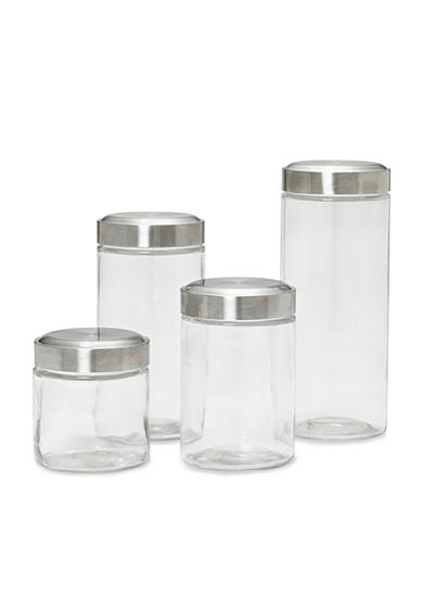 Kamenstein 4-Piece Glass Canister Set