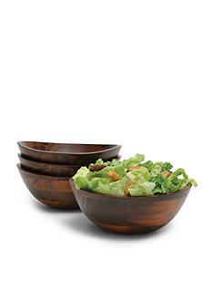 Lipper International Cherry Small Wavy Rim Bowls (Set of 4) - Online Only