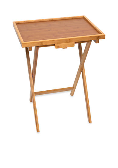 Lipper International Bamboo Snack Table