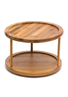 Lipper International Bamboo 2-Tier 10-in. Turntable - Online Only