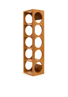 Lipper International Bamboo 5 Bottle Stackable and Wall Mountable Wine Rack