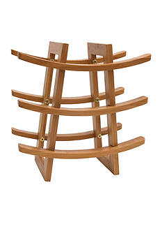 Lipper International Bamboo 9-Bottle Wine Rack