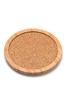 Lipper International Bamboo & Cork 10-in. Turntable - Online Only