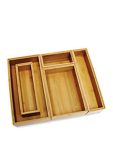 Lipper International Bamboo 5-Piece Organization Set