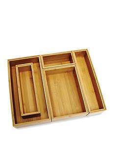 Lipper International Bamboo 5-Piece Organization Set