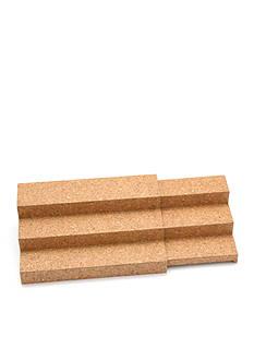 Lipper International Bamboo and Cork 3-Tier Step Shelf