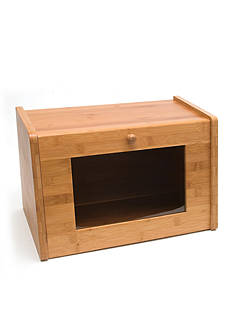 Lipper International Bamboo Bread Box with Window Door