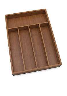 Lipper International Bamboo Small Flatware Tray