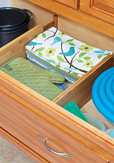 Lipper International Bamboo Deep Kitchen Drawer Divider (Set of 2) - Online Only