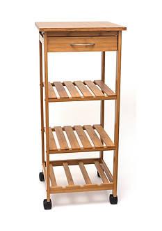Lipper International Bamboo Space Saving Cart