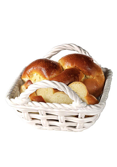 Tabletops Gallery® Ceramic Hand Woven Bread Basket - Online Only