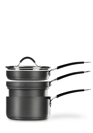 Tabletops Unlimited 4-Piece Stax Living Nonstick Hard Anodized Saucepan Set
