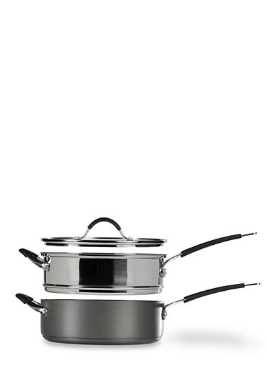 Tabletops Unlimited 3-Piece Stax Living 5-qt. Nonstick Multi-Function Cooking System - Online Only