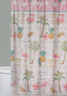 Saturday Knight Flamingo Shower Curtain