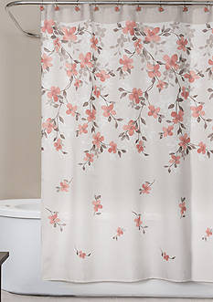 Saturday Knight Coral Garden Shower Curtain and Hooks