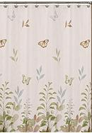Saturday Knight Fluttering Shower Curtain and