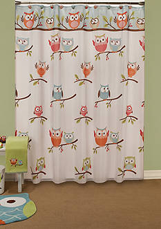 Saturday Knight Hooty Fabric Shower Curtain