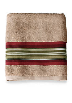 Saturday Knight Madison Stripe Red Bath Towel Collection