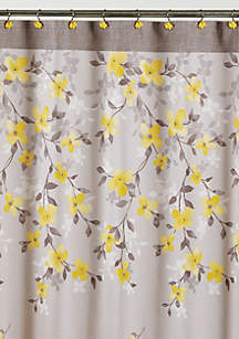 yellow and purple shower curtain. Spring Garden Shower Curtain Curtains  Bath Liners Unique belk