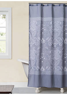 Saturday Knight CHERIE FABRIC SHOWER CURTAIN