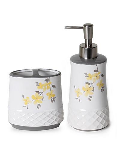 Saturday knight spring garden bath accessories collection for Spring bathroom decor