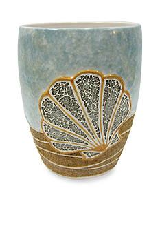 Croscill Shells Ashore Wastebasket 8.1-in. x 10-in.