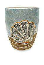 Shells Ashore Wastebasket  8.1-in. x 10-in.