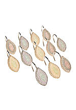 Mosaic Leaves Shower Hooks